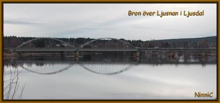 Bron över Ljusnan i Ljusdal.