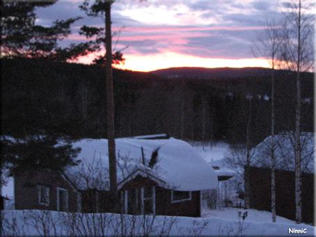 Solnedgång i Storsved 24/1 2011.
