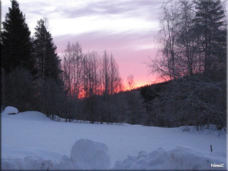 Soluppgång i Storsved.