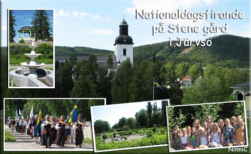 Nationaldagsfirande vid Stene gård.