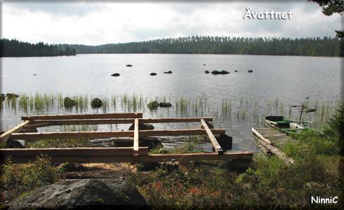 Det blivande båthuset vid Åvattnet.