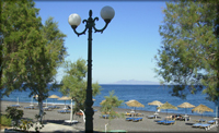 Santorini - Stranden i Kamari