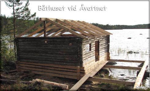 Båthuset vid Åvattnet.
