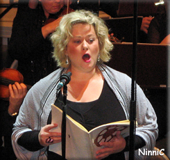Solist Jeanette Bjurling, sopran, i Carmina Burana.