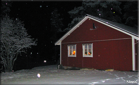 Första snön kom första advent.