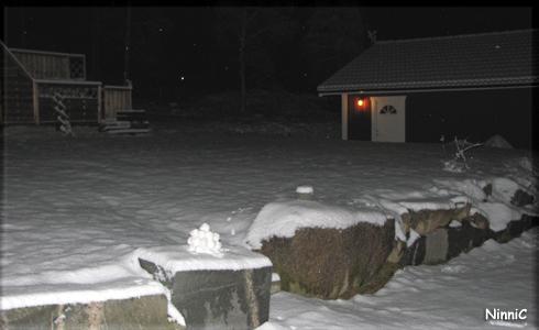 Snölyktan i den första snön.