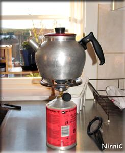 Gasolkök är räddningen då det blir strömavbrott.