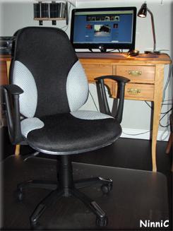 Nya kontorsstolen.