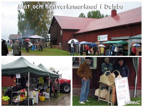 120922 Mat och hantverksmarknad i Delsbo.