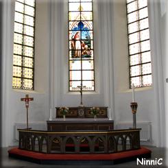 121022 Altaret i Vallsjö nya kyrka.