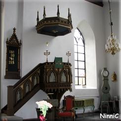 121022 Predikstolen i Vallsjö nya kyrka.