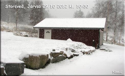 121029 Se det snöar... igen.