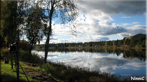 120928 Ljusnan vid Henriksfors utanför Färila.