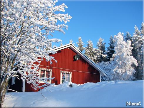 130117 -12º och nysnö - här bor vi. :-)