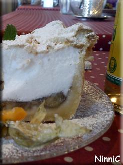 140326 Banan och marängpaj med glass på Hemma