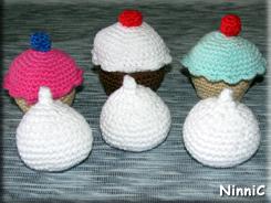 170820 Cupcakes och maränger som jag virkat till Vilja