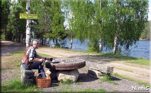 Fikapaus utanför Kårböle